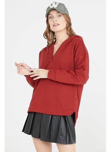 Sementa Kapüşonlu Sweatshirt - Kremit Kiremit